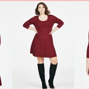 Just Fab / Sweater Dress / Fit and Flare